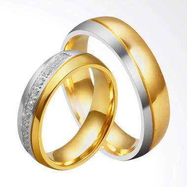 CDHJewelry CC102 Titanium Anti Kara ... Gold [Female 6 & Male 10]