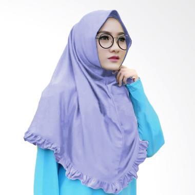 Najwa Khimar Rempel Lipit Jilbab Instan - Lavender