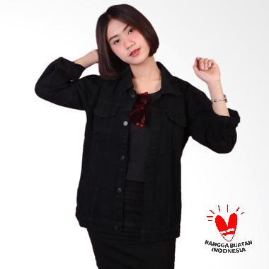 LINAFSIHI Denim Jaket Jeans Wanita - Dark Denim