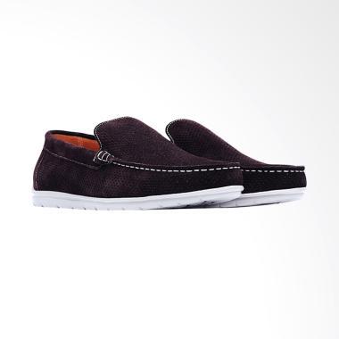 Life8 Lightweight Velvet Leather Br ... patu Pria - Brown [09615]