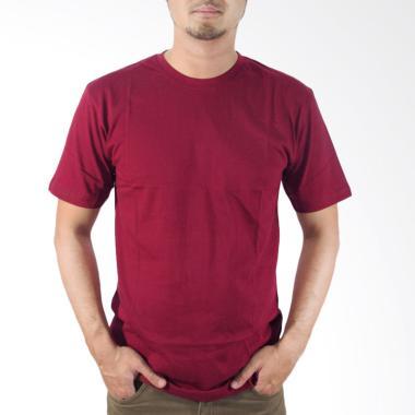 Nazoela Clothing Polos Kaos Pria - Maroon Solid
