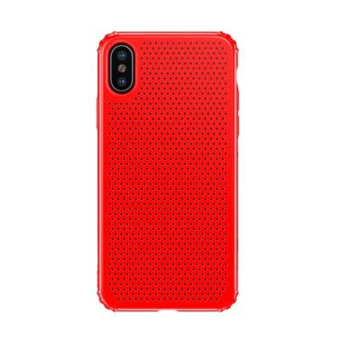 Baseus Small Hole Casing for Apple iPhone X 5.8 Inch - Merah