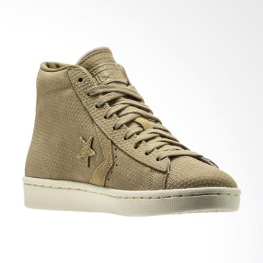 Converse Men's Pro Leather 76 Mid V ... tu Pria - Khaki [155648C]