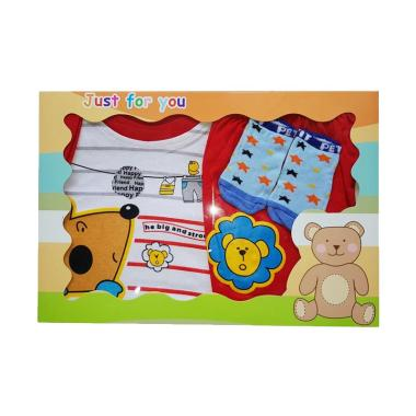 MOMO Lion Gift Set Pakaian Bayi Laki-Laki - Merah