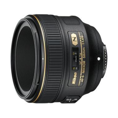 Nikon AF-S NIKKOR 58mm f-1.4G Lensa Kamera Black