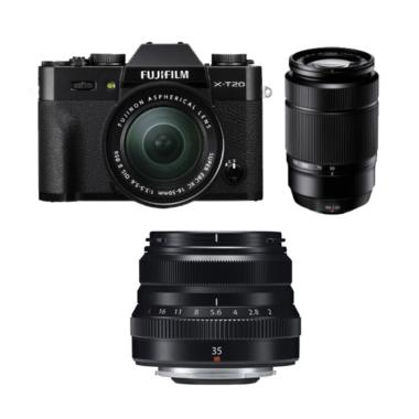 Fujifilm XT20 Kit XC16-50 Black + X ... S (By Claim)GARANSI RESMI