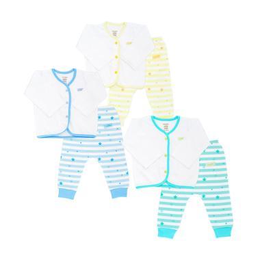 Boogy Baby Set Long Top Trousers Stardust Set Pakaian Bayi 3 pcs 0 .
