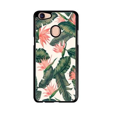 Acc Hp Acc Hp Pink Aqua Floral Leaves E1469 Custom Casing for Oppo F5