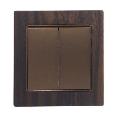 Boton Seri G9-003-2 Saklar - Wood