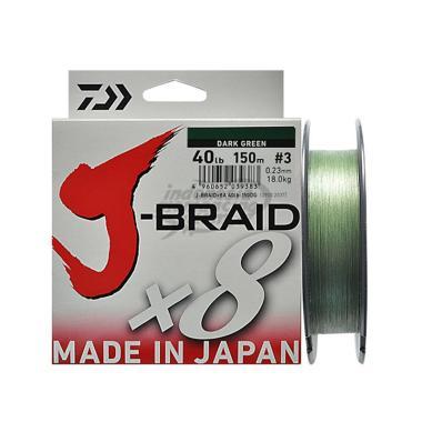Daiwa J Braid X8 150M PE Senar Pancing [40 Lb]