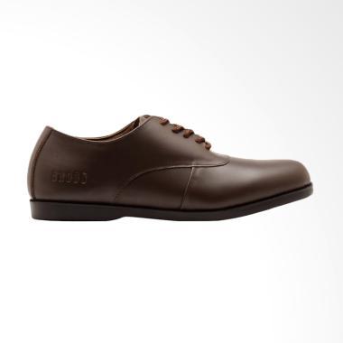 Brodo Natuna Sole Sepatu Pria - Brown Black