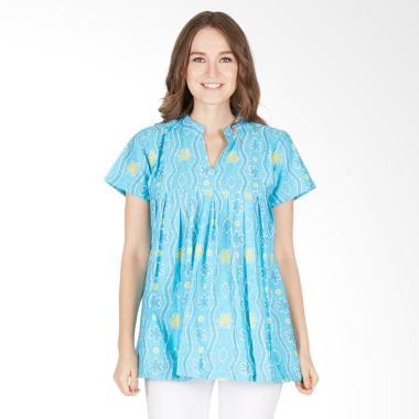 harga Winggo Etniq Batik Blus Atasan Wanita - Pastel Biru Blibli.com