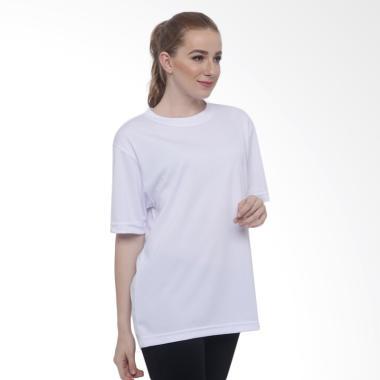 125219ba3 Hitscore T-Shirt Kaos Oblong Lengan Pendek - Putih