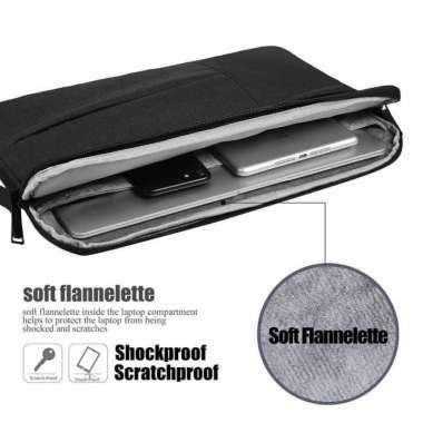 harga Tas Laptop 14 inch Jinjing Pocket sleeve - soft case Waterproof Black 100 % ORIGINAL Multicolor Blibli.com