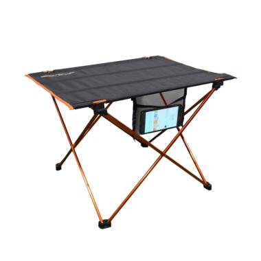 Dhaulagiri Folding Table Meja Lipat - Black Orange
