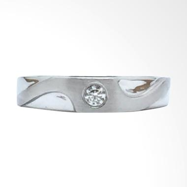 Pentacles FC00725 Wedding Ring White Gold With Diamond