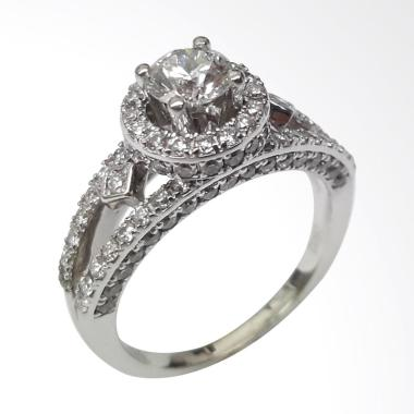 Pentacles SC4389 White Gold Ring With Diamond
