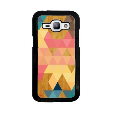 Acc Hp Geometric Triangles On Wood  ... asing for Samsung J1 2015