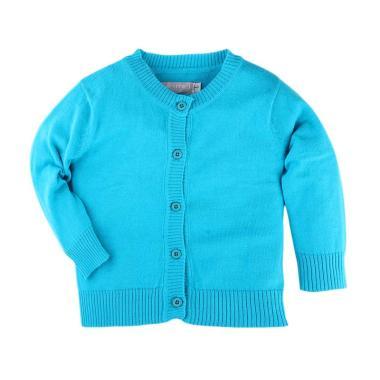 Hello Mici Baju Bayi Knitwear Baby Basic Cardigan - Blue