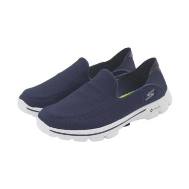 harga #DIJAMINMURAH - Skechers Go Walk 3 Comfort Lifestyle Sepatu Olahraga Pria - Navy [54043NVY] Blibli.com
