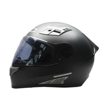 Cargloss New Sport One Helm Full Face - Solid Deep Black SG Doff