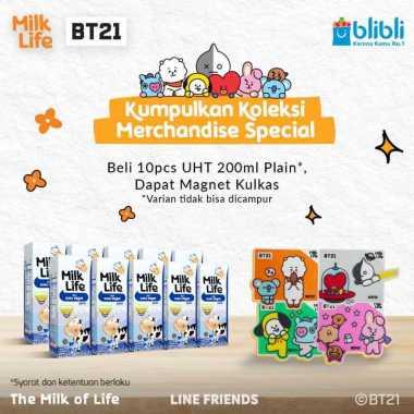 harga Bandung - MilkLife Murni – UHT Teens Tetra Slim Leaf [200 mL/10 pcs] + Free Magnet Kulkas BT21 Blibli.com