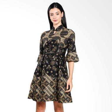 Wajik Modern Dress Batik - Olive Coklat