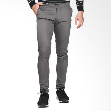 VM Slimfit Stretch Chino Celana Panjang Pria - Abu