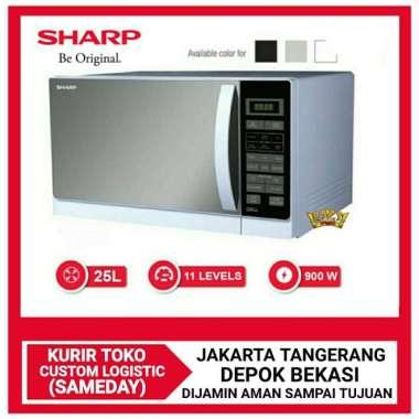 harga Microwave sharp R-728(K)IN [hitam dan putih] - Putih, NO BUBBLE WRAP Blibli.com