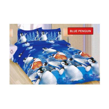 Bonita Tipe Blue Pinguin Set Sprei