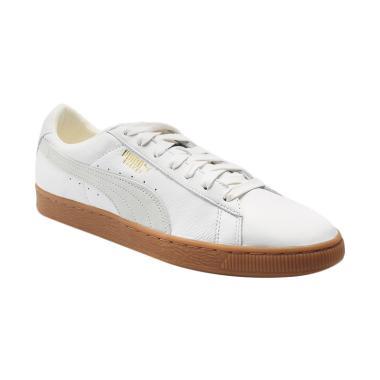 PUMA Basket Classic Gum Deluxe Shoe ... nisex - White [365366 01]