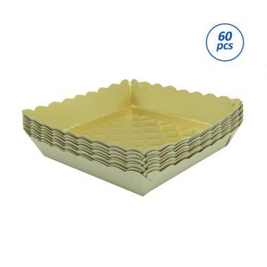 Titan Baking S Piring Kertas - Gold [60 pcs / 7 x 7 cm]