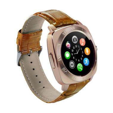 Xwatch DZ10 Smartwatch for Android dan IOS - Gold Brown