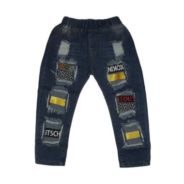 VERINA BABY Korean Style Ripped Celana Anak Perempuan - Blue Jeans