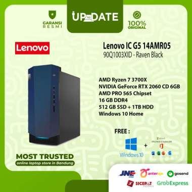 harga Lenovo IC G5 14AMR05 - 3XID - PC Desktop - [AMD Ryzen 7 3700X / 16GB DDR4 / 512GB SSD + 1TB HDD / RTX2060 CD 6GB / WIN 10 + OHS 2019] Raven Black Blibli.com