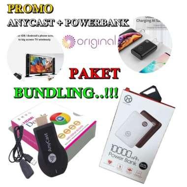harga Promo Paket Hemat Anycast HDMI Wifi Dongle  Powerbank Mini 10000mAh Murah Blibli.com