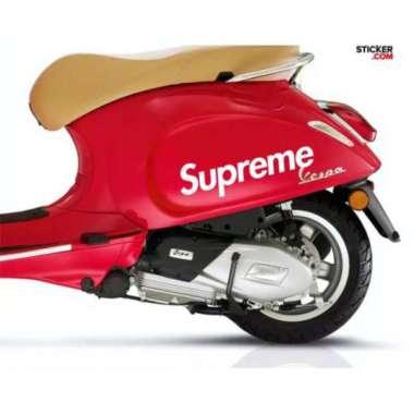harga TERBARU STICKER MOTOR SUPRAME STICKER MOTOR VESPA MATIC YAMAHA HONDA N MAX AKSESORIS MOTOR MATIC Blibli.com
