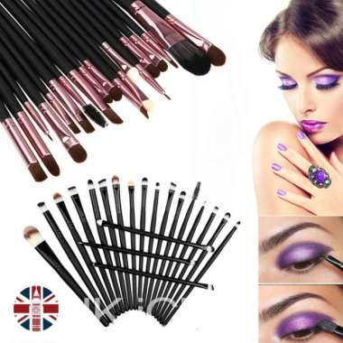 harga Unik Kuas make up isi 20 pcs  brush makeup kecantikan set make up wanita - Cokelat Diskon Blibli.com
