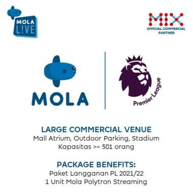 harga REGISTRASI MOLA TV LIVE FOR LARGE VENUE (LCV) Blibli.com