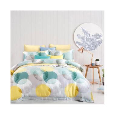Melia Bedsheet S-0269 Sutra Organik Set Sprei - Grey Yellow