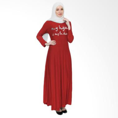Okechuku Tangan Panjang My Hijab Fashion Maxi Dress Gamis - Merah