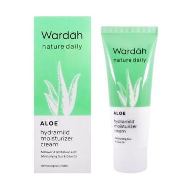 Wardah Nature Daily Aloe Hydramild Moisturizer Cream [40 mL]