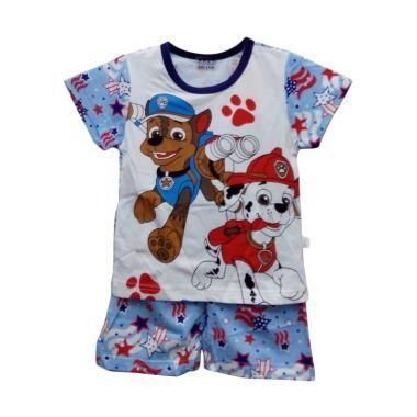 Import Kid PAW01 Setelan Pakaian Anak Laki laki - Blue