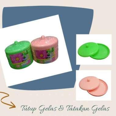 harga Tutup dan Tatakan Alas Gelas Set 12 Pcs - Merah Muda Multicolor Blibli.com