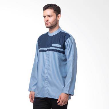Allev Mahdi Long Shirt Baju Koko - Biru