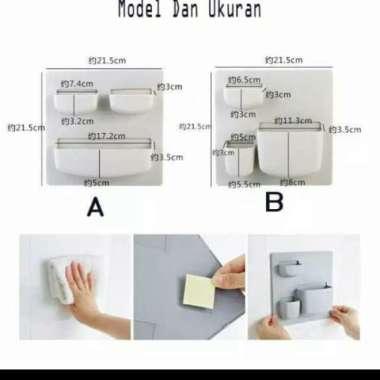harga Rak Tempel Dinding Serbaguna kulkas organizer bathroom dapur interior - Cream Model A Berkualitas Blibli.com