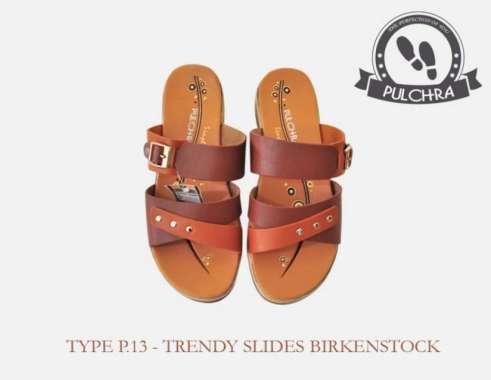 harga Dijual Sandal Wanita Trendy Slide Birken Stock Type P.13 Murah Blibli.com
