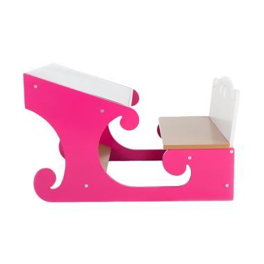 Furindo Meja Belajar Dan Kursi Anak Pink