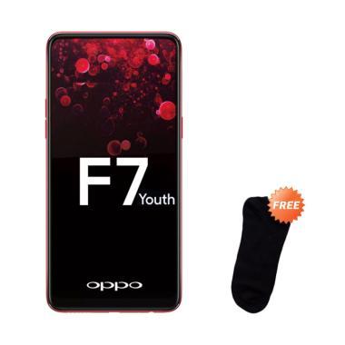OPPO F7 Youth Smartphone - Black [64GB/ 4GB] + Free Kaos Kaki 7 Pasang