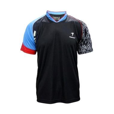 Flypower Mandalawangi 2 Kaos Badminton Pria - Black Blue Red